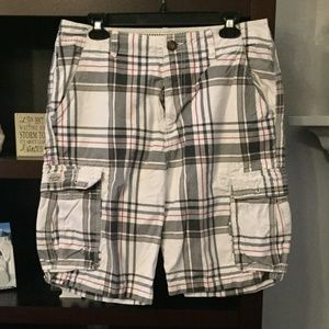 Old Navy Plaid Shorts Size 32, gently worn